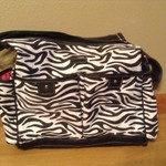 Carter's Zebra print diaper bag