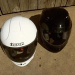 Near New - {{Two, Full Face Motorcycle Helmets W/Air Vents}}