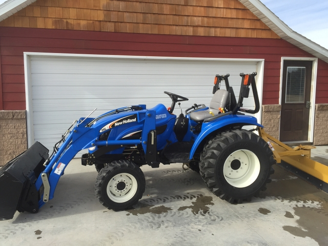 Tractor Loader Boom Middle Steeering : New holland tc da tractor with loader and