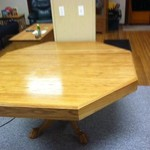 Octagon poker/dining room table