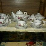 Vintage china tea set from 50's