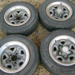 Vintage GMC S-10 Rally Wheels with all Center Caps 14 Inch