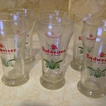 Budweiser 8 oz beer glasses
