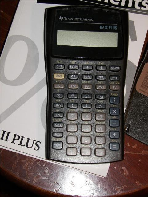 texas instruments ba ii plus user manual