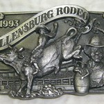 *~*~*1993  ELLENSBURG  RODEO  BELT  BUCKLE*~*~*