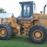'96 Case 621B wheel loader, bucket, forks, 3rd valve, good