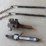 Trailer Hitch with stabilizer bars