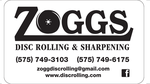 Zoggs disc rolling logo