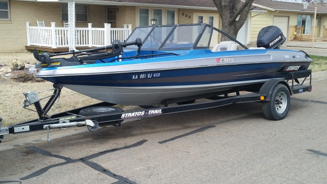 1996 stratos fish ski bass boat 278fs 115 hp for Fish and ski boat