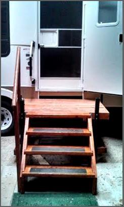 Portable Adjustable Camper Amp Rv Deck Amp Steps Nex Tech