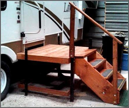 Portable Adjustable Camper Amp Rv Deck Amp Steps Discoverstuff
