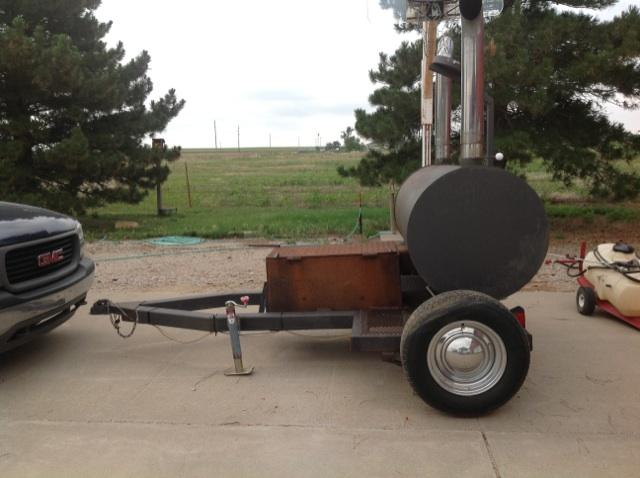 Pull Behind Custom Bbq Grill Smoker Pioneer Classifieds