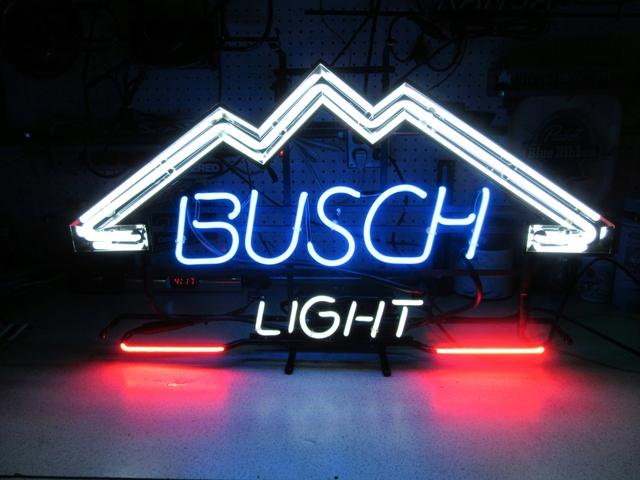 BUSCH LIGHT BEER NEON SIGN COLLECTIBLE - Nex-Tech Classifieds