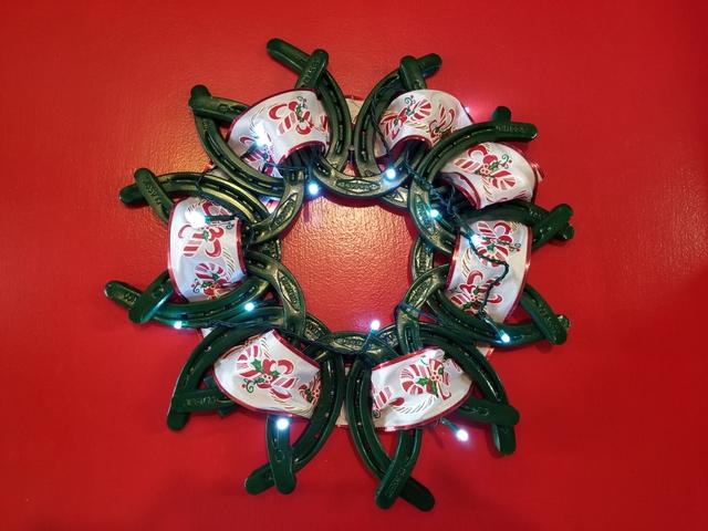 contact seller - Horseshoe Christmas Wreath