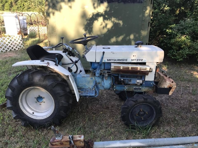 Mitsubishi Tractor 2454 : Small diesel mitsubishi tractor also have a tiller