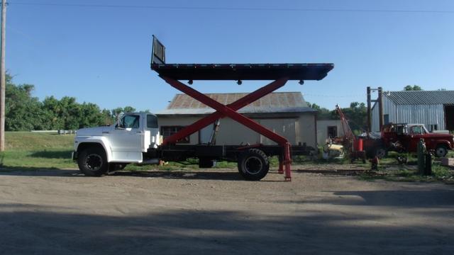 Ford F 750 Scissor Lift Dump Truck Roofers Truck Ptci