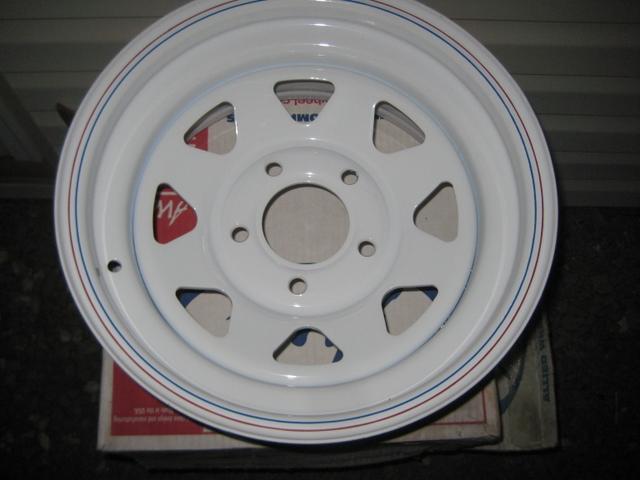 4-New White 8-Spoke Wheels 15X7 5-5 Chevy Bolt Pattern - Nex-Tech Classifieds