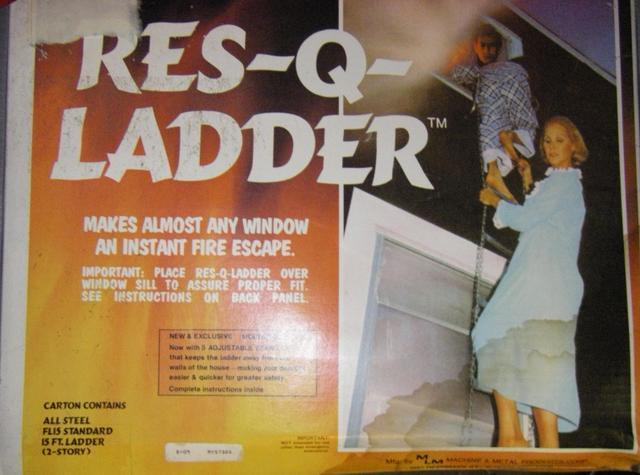 Res Q Ladder Emergency Escape From Second Floor Fire