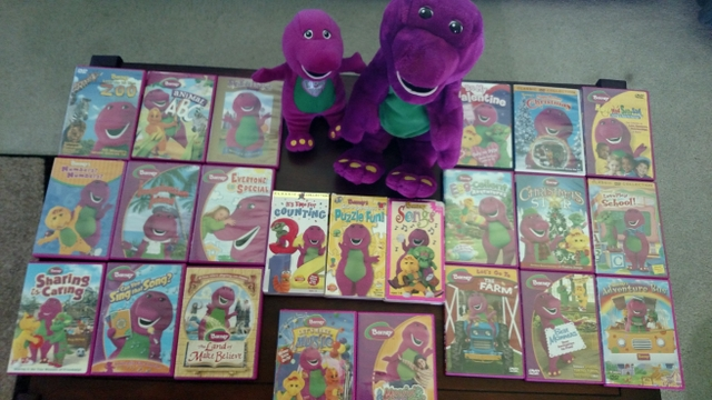Barney Dvd Vhs Collection Amp Singing Animated Barney Dinos