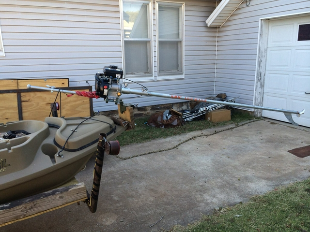 Beavertail 1200 layout boat with mud motor and blind - PTCI Classifieds