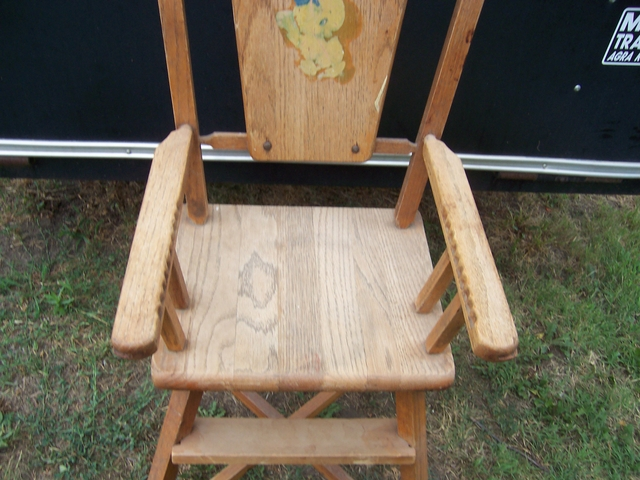 Vintage Wooden High Chair No Tray Nex Tech Classifieds