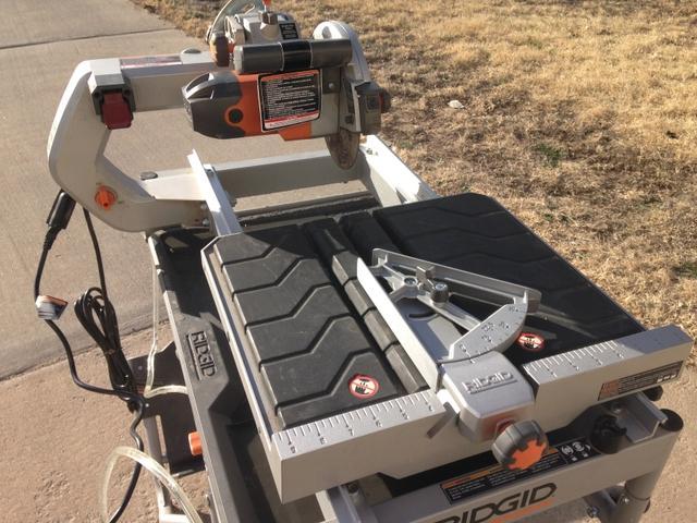 Ridgid 7 Quot Job Site Wet Tile Saw With Laser Model R4007