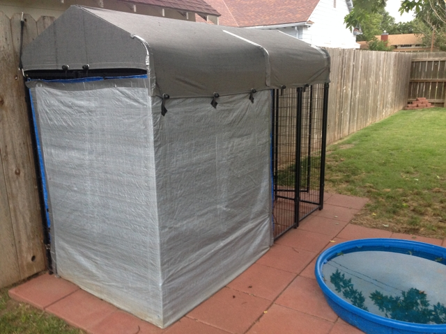 Portable dog kennel with top cover ptci classifieds for Portable dog kennel building