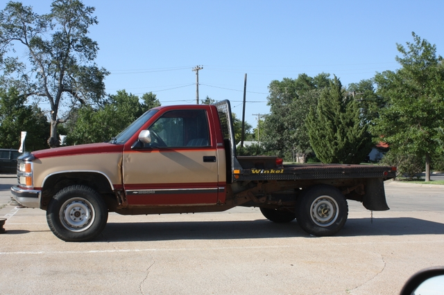 1990 chevrolet silverado c2500 4x4 3 4 ton flatbed truck for Bed tech 3000