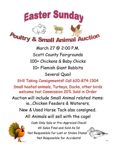 Small Animal Auction Scott City Ks 03 27 16 Tct Classifieds
