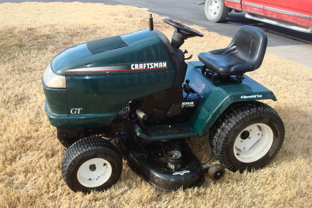 how to change blades on craftsman riding mower