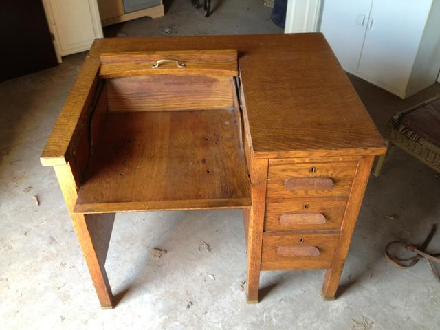 Contact Seller - Antique Typewriter Desk In Excellent Condtion - Nex-Tech Classifieds