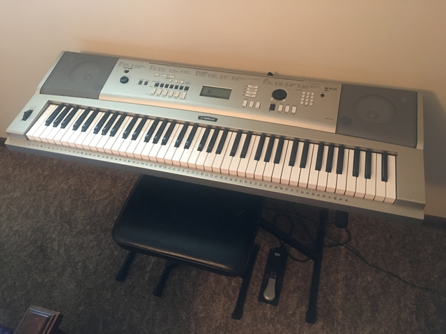 Yamaha ypg 235 76 key portable grand piano ptci classifieds for Ypg 235 yamaha