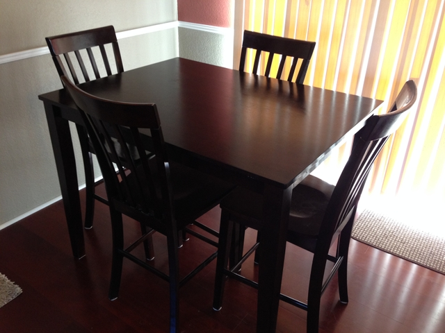 Contact Seller. Dark Wood High Top Table and Chair Set   Nex Tech Classifieds